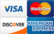 Pay Securely Online with Visa, MasterCard, Amex and Discover Cards